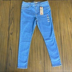 Levi's 720 High Rise super skinny light wash jeans